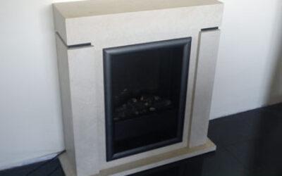 №11 - Електрическа камина - комплект облицовка от естествен камък , немска електрическа горивна камера и монтаж - цена: 1330 лв